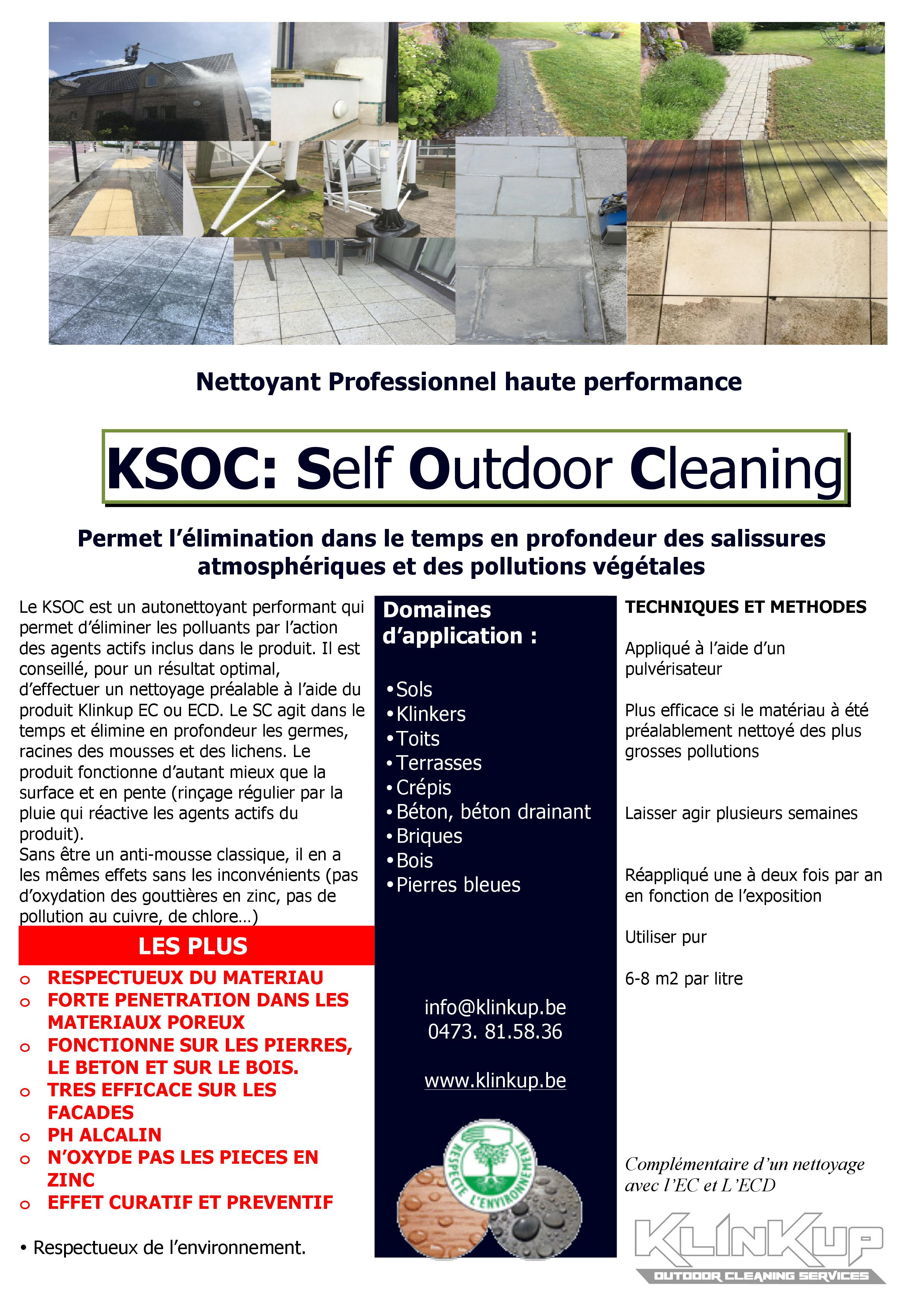 KSOC : Self outdoor Cleaning